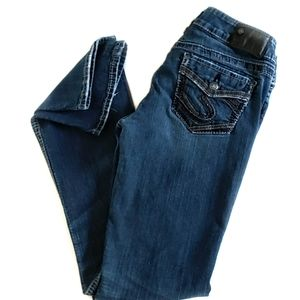 Silver Jeans Suki Mid Slim Boot Blue Jeans W28/L33